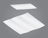 空白可折叠 向量例证
