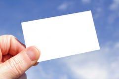 空白名片现有量藏品 库存照片