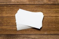 空白名片白色 免版税库存图片