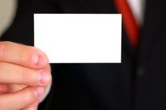 空白名片 免版税图库摄影