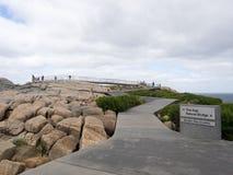 空白和桥梁在Torndirrup国家公园,阿尔巴尼,西澳州 免版税图库摄影