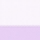 空白和紫罗兰色圆点花样的布料背景 库存照片
