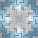 空白和蓝色金属楼层 免版税库存照片