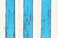 空白和蓝色grunge木头 免版税库存图片