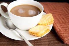 空白咖啡的曲奇饼 库存照片