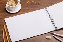 空白咖啡纸张 免版税图库摄影