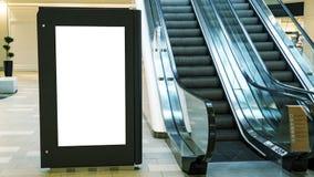 空白嘲笑垂直的街道海报广告牌 库存照片