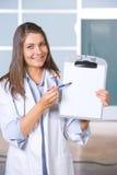 空白图表医生女性藏品 免版税库存图片