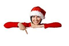 空白圣诞老人符号 图库摄影