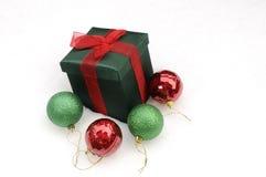 空白圣诞节的礼品 库存图片