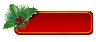空白圣诞节装饰要素标签 库存例证