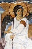 空白在基督的坟墓的天使或Myrrhbearers 免版税库存图片