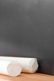 空白垩的黑板 免版税库存图片