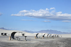 空白墨西哥纪念碑国家新的沙子 免版税图库摄影