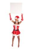 空白夫人圣诞老人・ sign 库存图片