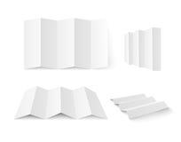 空白小册子白色 免版税库存图片