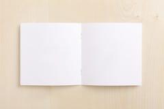空白小册子cd木头 免版税库存图片