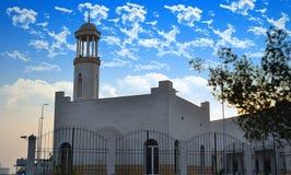 空白小的清真寺在吉达 免版税库存照片