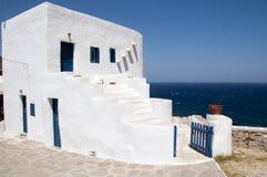 空白希腊房子天堂的sifnos 库存图片