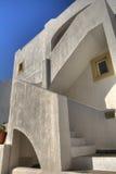 空白希腊的房子 库存照片