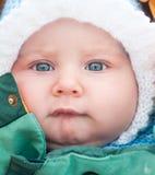 空白帽子的婴孩 免版税库存照片