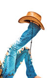 空白帽子的行程 免版税库存图片