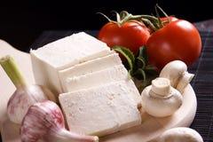 空白干酪新的片式 免版税库存照片