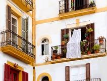 空白房子在从Balearics的Ibiza城镇 库存图片