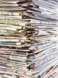 空白报纸纸叠顶部白色 免版税库存图片