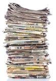 空白报纸纸叠顶部白色 免版税图库摄影
