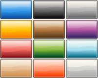 空白按钮向量万维网 库存照片