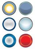 空白按钮图标徽标万维网 图库摄影