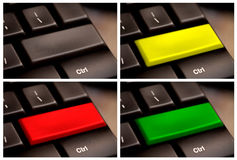 空白按钮计算机键盘关键董事会多个 免版税库存图片