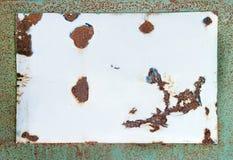 空白搪瓷老符号 免版税库存照片
