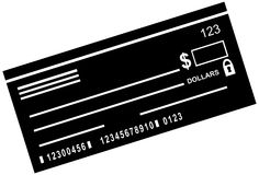 空白支票 库存图片