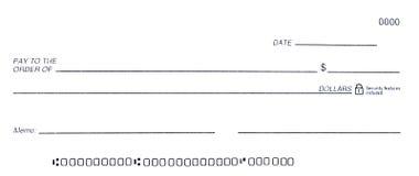 空白支票 免版税库存照片