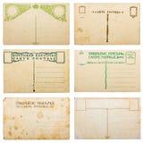 空白收集明信片葡萄酒 库存图片