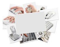空白收集框架照片技术 免版税库存照片