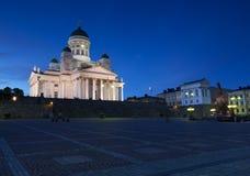 空白教会赫尔辛基 库存照片