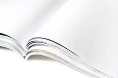 空白文件杂志开放页 免版税图库摄影