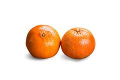 空白新鲜的查出的桔子 免版税库存照片