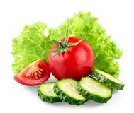 空白新鲜的查出的蔬菜 免版税库存图片