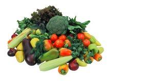 空白新鲜的查出的蔬菜 免版税库存照片