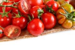空白新鲜的查出的蕃茄 免版税库存图片