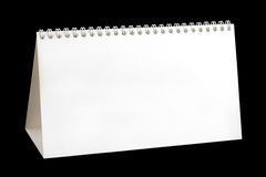 空白日历桌面 免版税库存照片