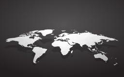 空白映射世界 向量例证