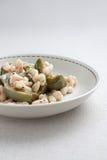 空白朝鲜蓟的豆 免版税库存图片