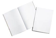 空白杂志传播 库存图片