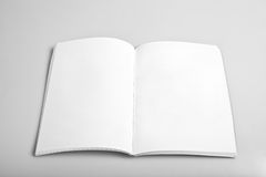 空白杂志开放页 免版税图库摄影