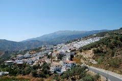 空白村庄, Competa,西班牙。 库存照片